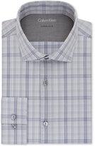 Calvin Klein Men's Extra Slim-Fit Stretch-Fabric Plaid Dress Shirt
