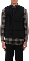 Robert Geller MEN'S BELT-DETAIL QUILTED COTTON VEST