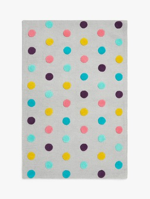 little home at John Lewis Pom Pom Rug, Multi, L180 x W120cm