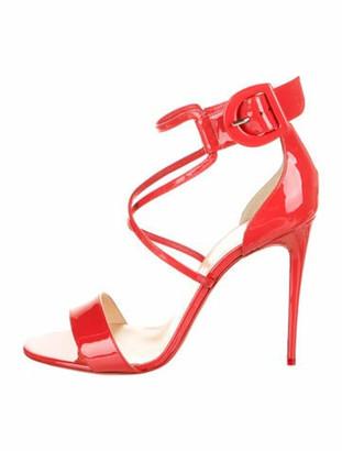 Christian Louboutin Choca Patent Leather Sandals Orange