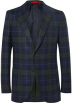 Isaia - Slim-fit Checked Wool And Cashmere-blend Blazer
