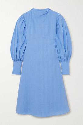 By Malene Birger Net Sustain Fleroya Crinkled-organic Cotton Dress - Blue