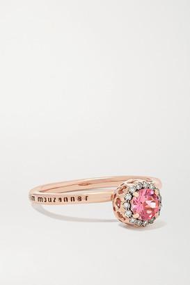 Selim Mouzannar Beirut Basic 18-karat Rose Gold, Tourmaline And Diamond Ring - 52