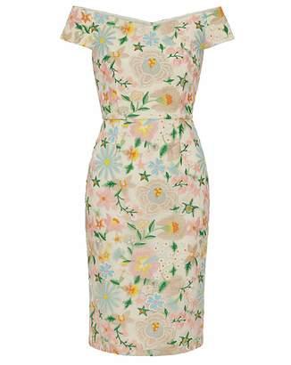Gina Bacconi Mayla Embroidered Dress