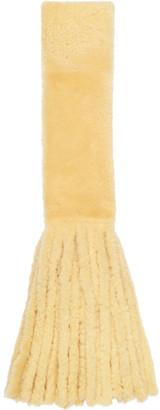Bottega Veneta Yellow Shearling Scarf