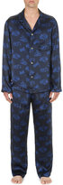 Derek Rose Brindisi Silk-satin Pyjama Set