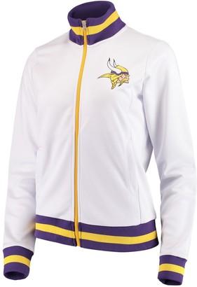 G Iii Women's G-III 4Her by Carl Banks White Minnesota Vikings Field Goal Track Jacket