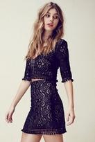 For Love & Lemons Florence Mini Skirt in Black