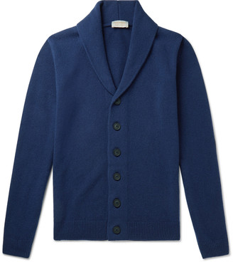 John Smedley Patterson Shawl-Collar Merino Wool And Cashmere-Blend Cardigan
