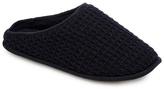Mantaray Navy Waffle Knit Mule Slippers