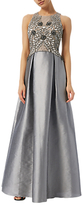 Adrianna Papell Iridescent Bead Gown, Dove Grey