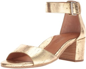 Gentle Souls by Kenneth Cole Women's Christa Mid-Heel Sandal with Ankle Strap Heeled