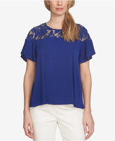 CeCe Lace-Yoke Top
