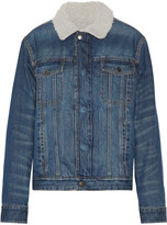 Current/Elliott The Zip Hendric faux shearling-lined denim jacket