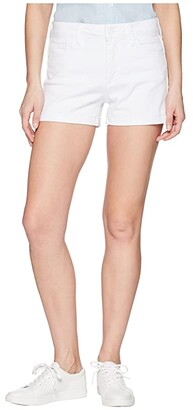 Paige Jimmy Jimmy Shorts w/ Raw Cuff Hem in Crisp White