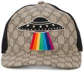 Gucci GG Supreme UFO applique cap - men - Cotton/Polyester/Polyurethane - L