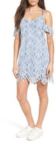 Lush Women's Strappy Lace Cold Shoulder Dress