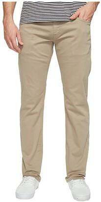 Mavi Jeans Zach Regular Rise Straight Leg in Beige Twill (Beige Twill) Men's Jeans