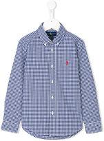 Ralph Lauren button-down gingham shirt - kids - Cotton - 2 yrs