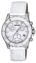 Wenger Women's 70744 Sport Elegance Chrono Mother-Of-Pearl Dial White Leather Watch