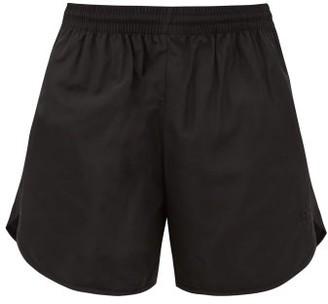 Balenciaga Bb-embroidered Shell Shorts - Black