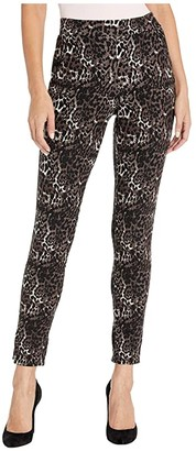 Hue Ponte 7/8 Leggings (Brown/Leopard) Women's Casual Pants