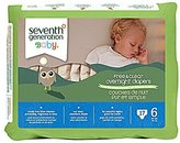 Seventh Generation Overnight Diapers - Size 6 - 17 ct by