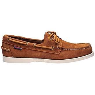 Sebago Men's Docksides Portland Suede Boat Shoes, Brown (Brown Cognac 907)