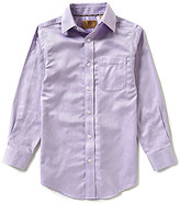 Class Club Gold Label Big Boys 8-20 Herringbone Long-Sleeve Shirt