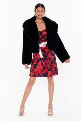Nasty Gal Womens Studio Don't Fur-get About Me Faux Fur Coat - black - 4