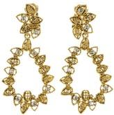 Oscar de la Renta Millegrain Petal Drop Earrings