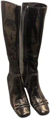 Anya Hindmarch Black Patent leather Boots