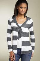 Stripe Tie Cardigan (Petite)