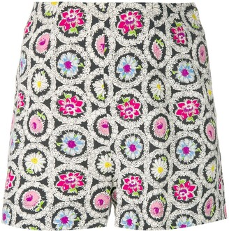 Moschino Pre-Owned Flower Print Shorts