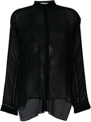 Isabel Benenato sheer panelled shirt
