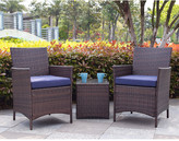 Varick Gallery Minden 3 Piece Lounge Seating Group with Cushion Fabric /