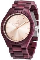 GOHUOS Men's Retro Unique Wooden Watches Roman Numeral Bamboo Dial Quartz Casual Wrist Watch Gift