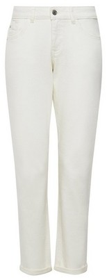 Dorothy Perkins Womens Ecru Organic Cotton Boyfriend Denim Jeans