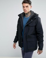Patagonia Isthmus Parka Jacket Borg Lined With Detachable Hood In Black