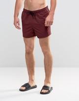Asos Swim Shorts In Plum Short Length