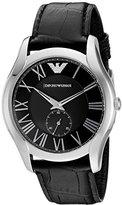 Emporio Armani Men's AR1703 Classic Analog Display Analog Quartz Black Watch