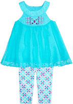 Nannette 2-Pc. Dotted Halter Top and Leggings Set, Little Girls (4-6X)