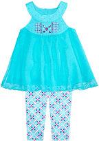 Nannette 2-Pc. Dotted Halter Top & Leggings Set, Toddler Girls (2T-5T)
