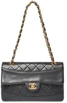 Chanel Vintage Black Lambskin Arch Border Flap Small
