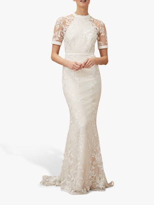 Phase Eight Bridal Phase Eight Poppy Embroidered Bridal Dress, Pearl