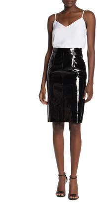 Walter Baker Molli Lambskin Leather Patent Skirt