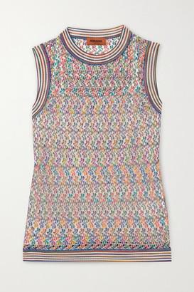 Missoni Crochet-knit Tank - Pastel pink