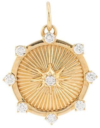 Foundrae 18kt yellow gold Baby 15mmm Spark diamond medallion