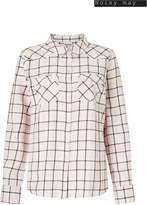 Next Womens Noisy May Long Sleeves Check Shirt - Pink
