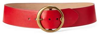 Ralph Lauren Lennox Leather Wide Belt
